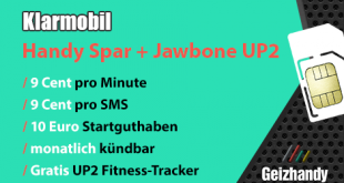 Klarmobil 9 Cent Handytarif + Jawbone UP2 Fitness Tracker