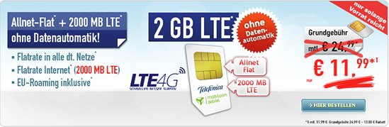 Allnet Flat 2 GB Deals - Mobilcom